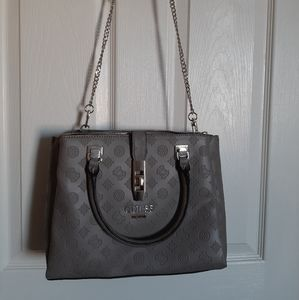 Guess Embossed Logo Satchel
